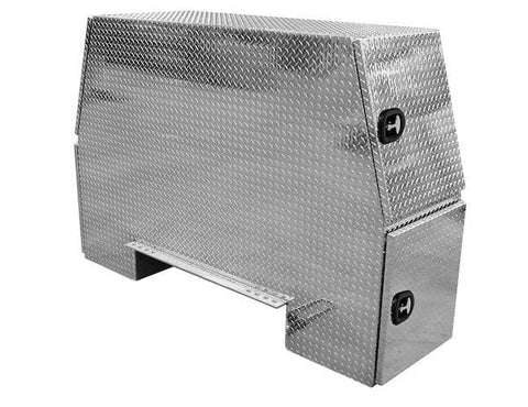 Buyers-BP825524-55x24x82 Inch Offset Floor Diamond Tread Aluminum Backpack Truck Box, (product_type), (product_vendor) - Nick's Truck Parts
