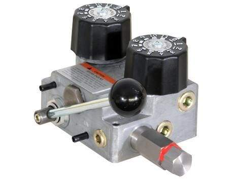 Buyers-HVC1030-3/4 Inch NPT Dual Flow Hydraulic Spreader Valve And Console 10-30 GPM, (product_type), (product_vendor) - Nick's Truck Parts