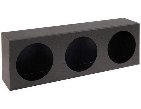Buyers-LB6183-Triple Round Light Box Black Powder Coated Steel, (product_type), (product_vendor) - Nick's Truck Parts