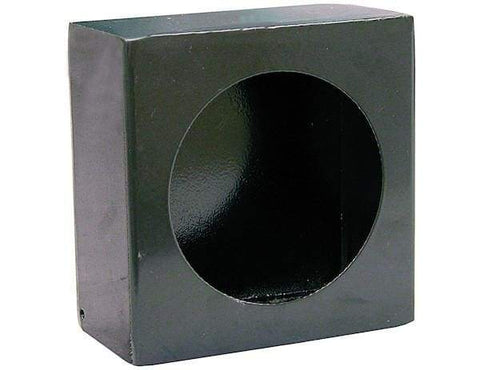 Buyers-LB663-Single Round Light Box Black Powder Coated Steel, (product_type), (product_vendor) - Nick's Truck Parts