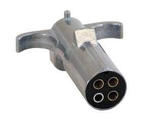 Buyers-TC2004-4-Pin Trailer End Connector, Metal (round), (product_type), (product_vendor) - Nick's Truck Parts