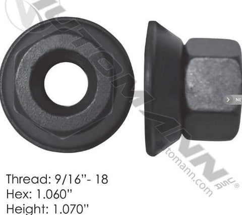 E-10234-Flanged Nut (Two Piece), (product_type), (product_vendor) - Nick's Truck Parts