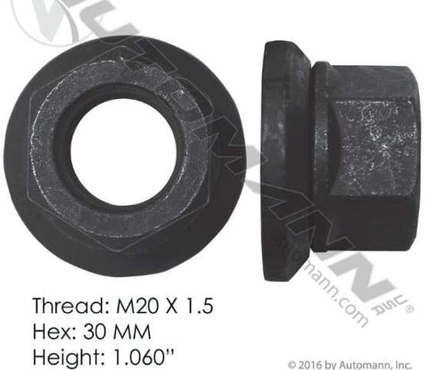 E-10235-Flanged Nut (Two Piece), (product_type), (product_vendor) - Nick's Truck Parts