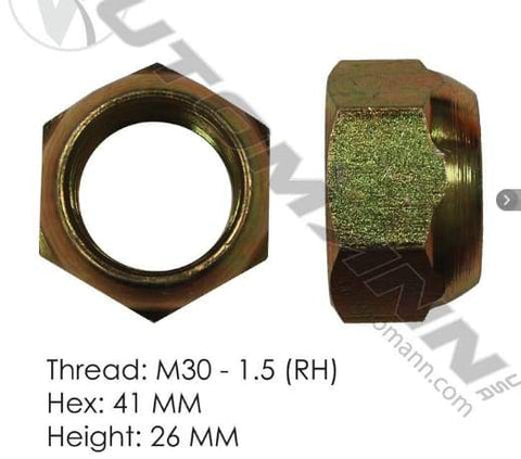 E-10254R-Disc Wheel Nut (Metric), (product_type), (product_vendor) - Nick's Truck Parts
