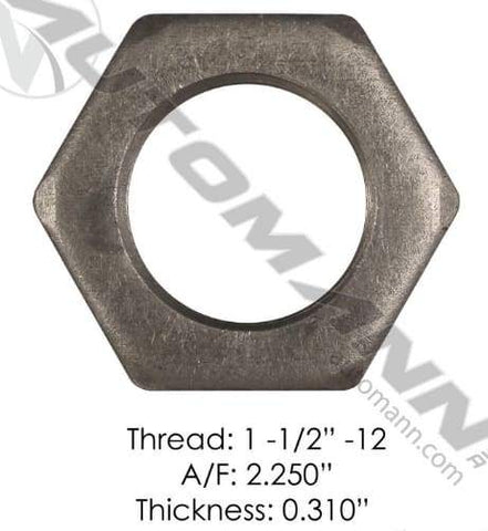 E-1087-Axle Spindle Nut, (product_type), (product_vendor) - Nick's Truck Parts