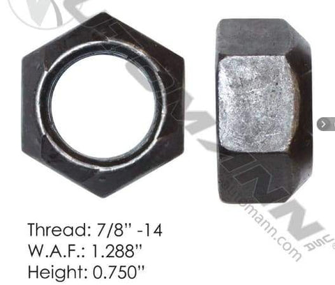 E-1835-Back Wheel Nut, (product_type), (product_vendor) - Nick's Truck Parts