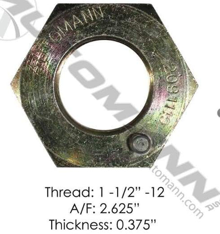 E-2299-Axle Spindle Nut, (product_type), (product_vendor) - Nick's Truck Parts