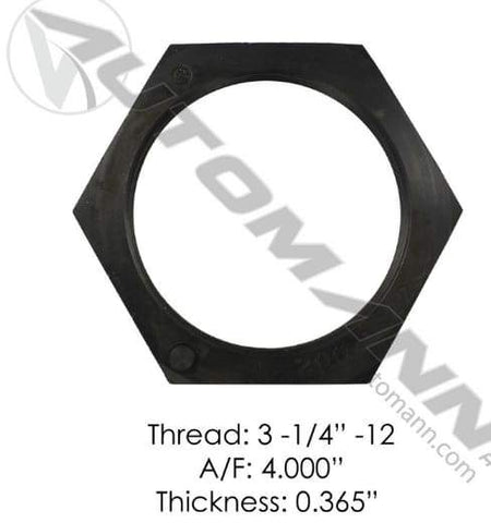 E-2303-Axle Spindle Nut, (product_type), (product_vendor) - Nick's Truck Parts