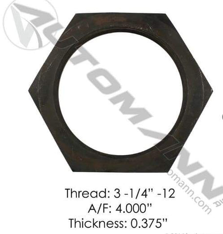 E-2305-Axle Spindle Nut, (product_type), (product_vendor) - Nick's Truck Parts