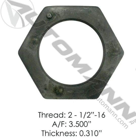 E-2417-Axle Spindle Nut, (product_type), (product_vendor) - Nick's Truck Parts