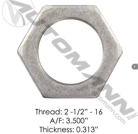 E-2419-Axle Spindle Nut, (product_type), (product_vendor) - Nick's Truck Parts