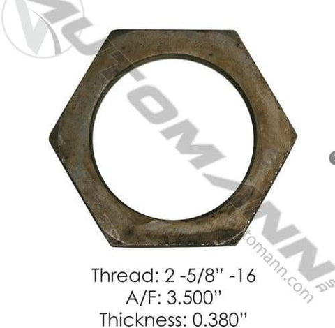 E-2422-Axle Spindle Nut, (product_type), (product_vendor) - Nick's Truck Parts