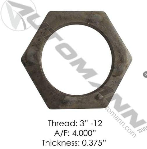 E-2423-Axle Spindle Nut, (product_type), (product_vendor) - Nick's Truck Parts