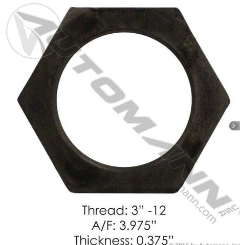 E-2425-Axle Spindle Nut, (product_type), (product_vendor) - Nick's Truck Parts