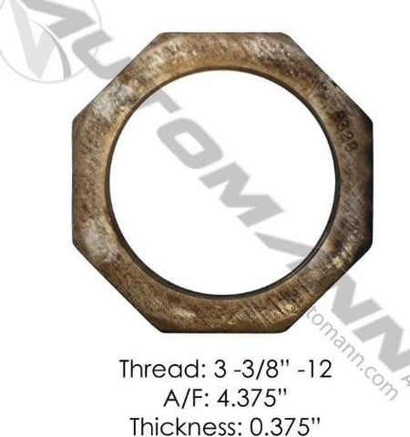 E-2428-Axle Spindle Nut (Inner), (product_type), (product_vendor) - Nick's Truck Parts