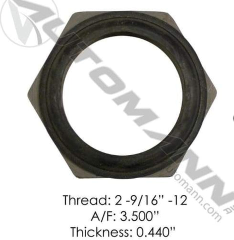 E-2460-Axle Spindle Nut, (product_type), (product_vendor) - Nick's Truck Parts