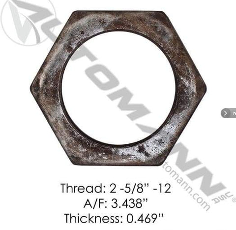 E-2462-Axle Spindle Nut, (product_type), (product_vendor) - Nick's Truck Parts