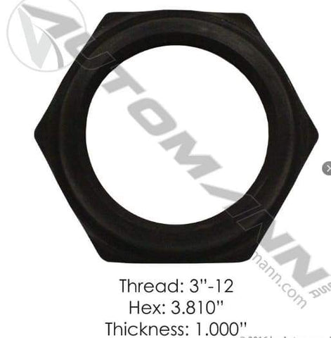 E-2463-Axle Spindle Nut, (product_type), (product_vendor) - Nick's Truck Parts