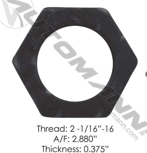 E-4855-Axle Spindle Nut, (product_type), (product_vendor) - Nick's Truck Parts
