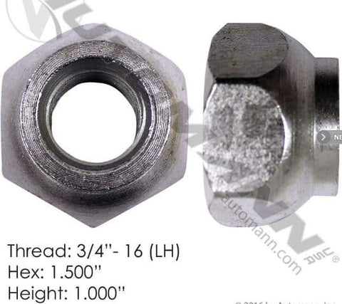 E-5554L-Disc Wheel Nut, (product_type), (product_vendor) - Nick's Truck Parts