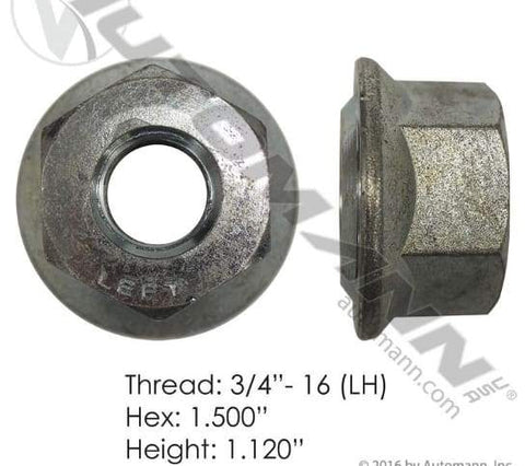 E-5578L  -  Flanged Nut (Ball Seat), (product_type), (product_vendor) - Nick's Truck Parts