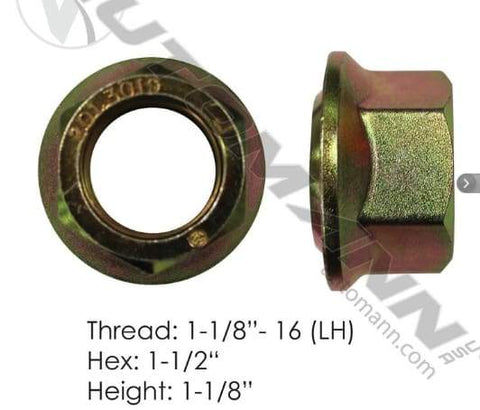 E-5579L  -  Flanged Nut (Ball Seat), (product_type), (product_vendor) - Nick's Truck Parts
