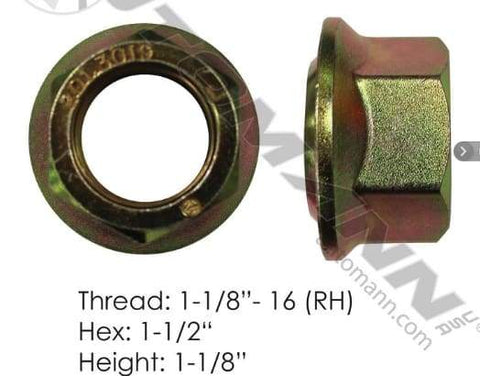 E-5579R  -  Flanged Nut (Ball Seat), (product_type), (product_vendor) - Nick's Truck Parts