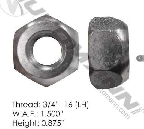 E-5652L-Disc Wheel Nut, (product_type), (product_vendor) - Nick's Truck Parts