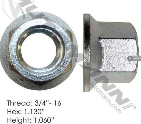 E-5704  -  Flanged Nut (One Piece), (product_type), (product_vendor) - Nick's Truck Parts