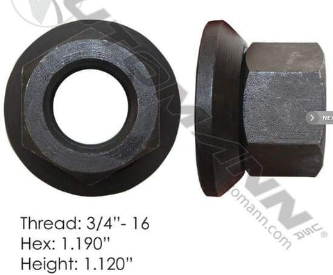 E-5708  -  Flanged Nut (Two Piece), (product_type), (product_vendor) - Nick's Truck Parts