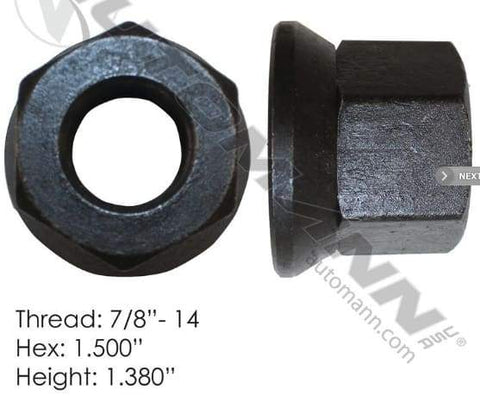 E-5711  -  Flanged Nut (Two Piece), (product_type), (product_vendor) - Nick's Truck Parts