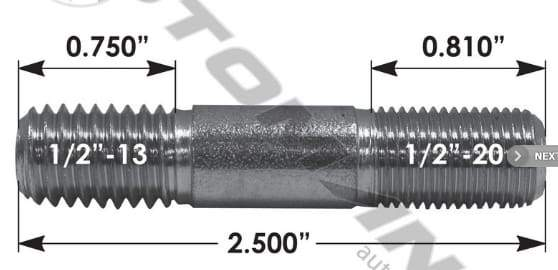 E-5799-Drive Flange Stud, (product_type), (product_vendor) - Nick's Truck Parts