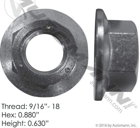 E-5892  -  Flanged Nut (One Piece), (product_type), (product_vendor) - Nick's Truck Parts
