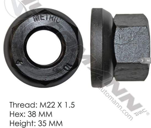 E-5991  -  Flanged Nut (Two Piece), (product_type), (product_vendor) - Nick's Truck Parts