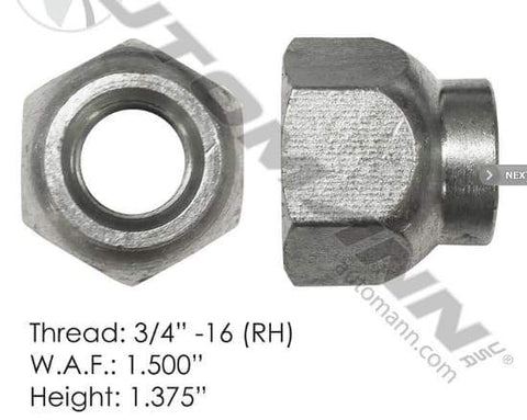 E-5995R-Disc Wheel Nut, (product_type), (product_vendor) - Nick's Truck Parts