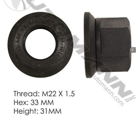 E-6000A  -  Flanged Nut (Two Piece), (product_type), (product_vendor) - Nick's Truck Parts