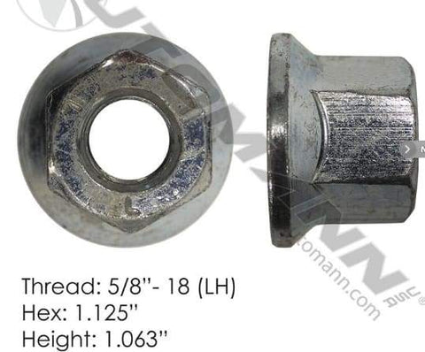 E-9022L  -  Flanged Nut (One Piece), (product_type), (product_vendor) - Nick's Truck Parts