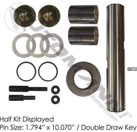 FKP-105-B -Standard King Pin Kit 1989-1991 Ford CF - Steering