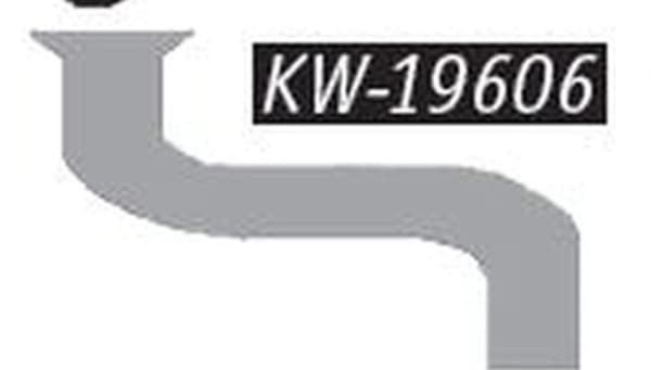 KW-19606-4in. Turbo Alz Double Bend Pipe With 5in. Flare, (product_type), (product_vendor) - Nick's Truck Parts