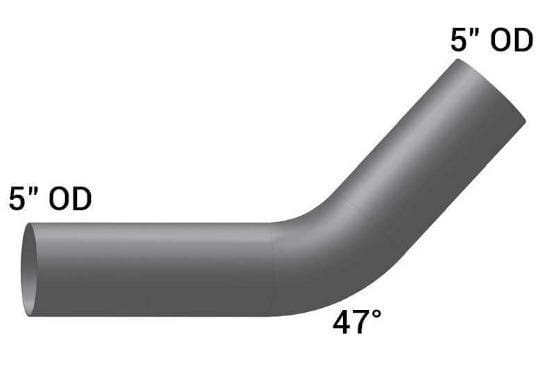 KW-8049-Elbow,5in.47Deg OD/OD ALUMINIZED, (product_type), (product_vendor) - Nick's Truck Parts