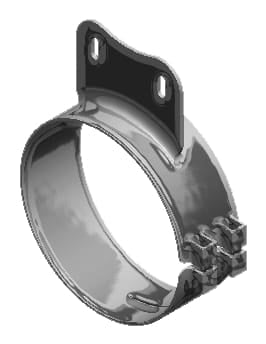 Lincoln Chrome-50-05083-8 in. Wide Chrome Western Star Clamp (2.5in. hole spacing), (product_type), (product_vendor) - Nick's Truck Parts