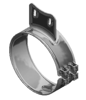 Lincoln Chrome-50-06083-8 in. Wide Chrome Western Star Clamp (3.38in. hole spacing), (product_type), (product_vendor) - Nick's Truck Parts