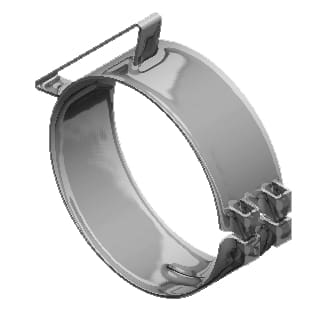 Lincoln Chrome-50-07053-5in. Wide Chrome Universal Clamp, (product_type), (product_vendor) - Nick's Truck Parts