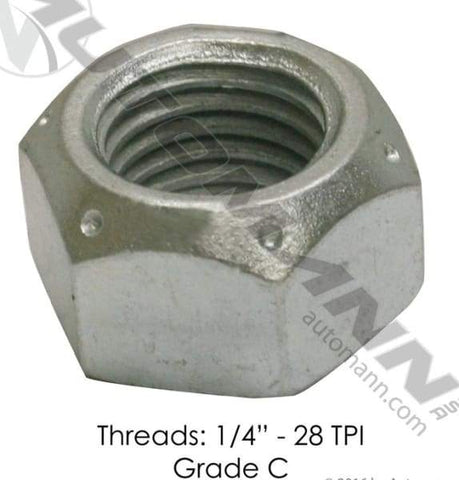 LN-140F-  Lock Nut- 1/4 -28 Steel Lock Nut - Grade C, (product_type), (product_vendor) - Nick's Truck Parts
