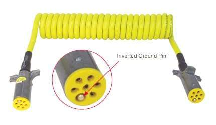 Tectran-7ATG522EG-Powercoil-ABS Duty-Auxiliary Plug (Yellow), (product_type), (product_vendor) - Nick's Truck Parts