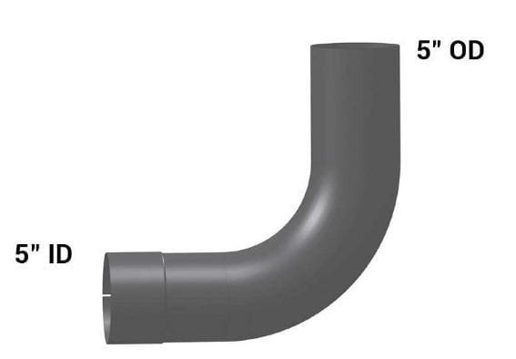 VG-9180-  ELBOW,90 DEG ID/OD ALZ, (product_type), (product_vendor) - Nick's Truck Parts