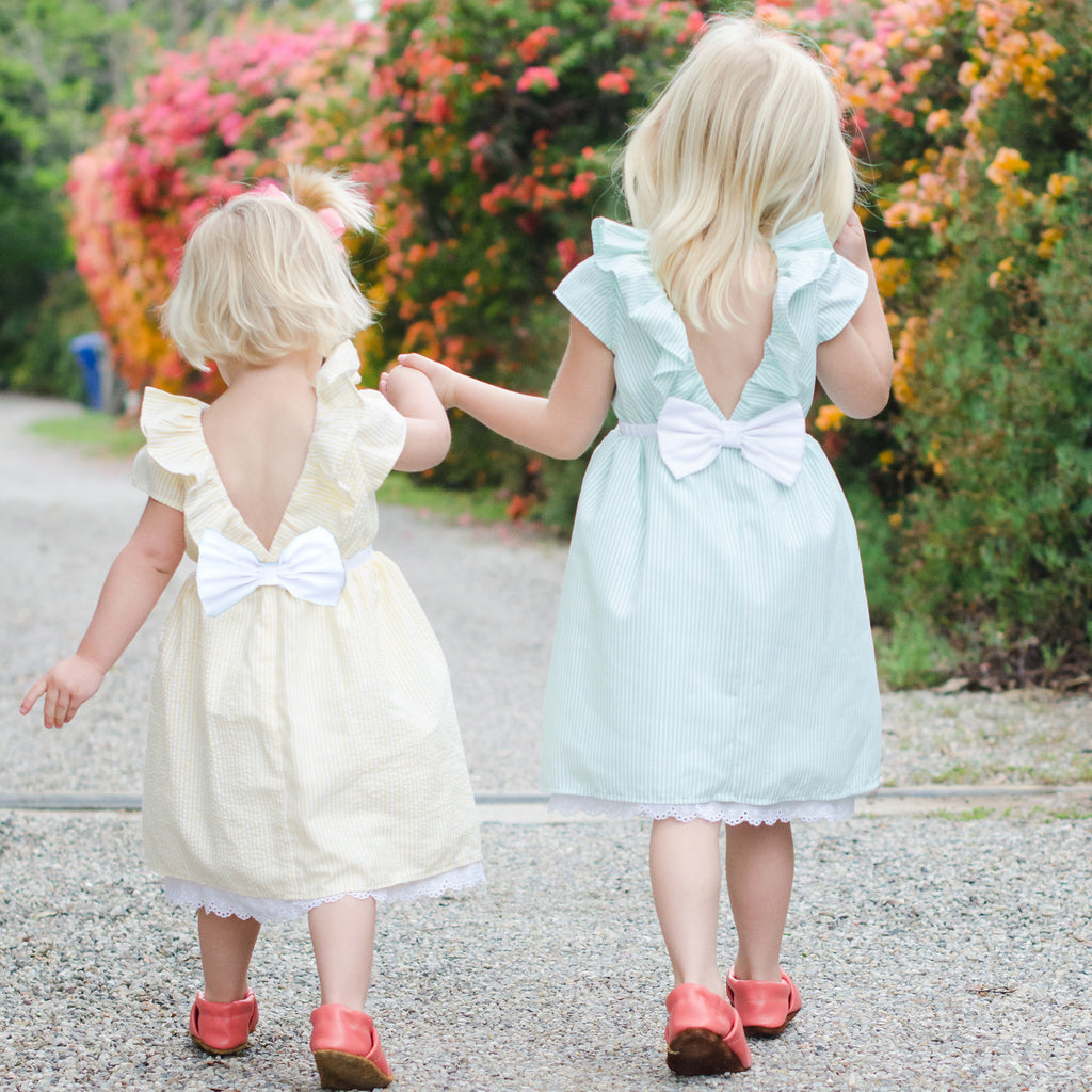 Seersucker Flower Girl Dresses