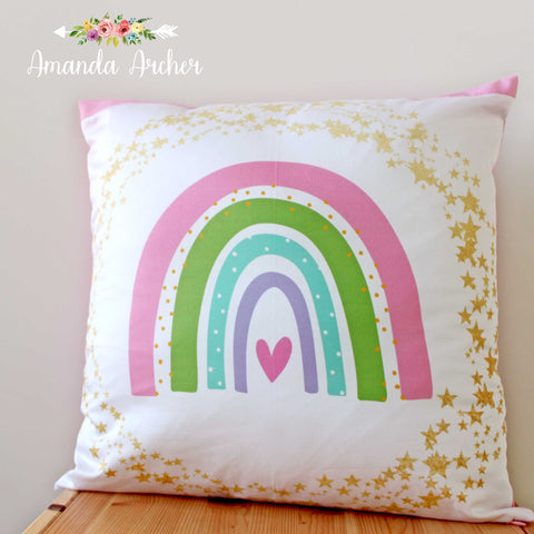 Rainbow, Pillow Cover 18x18""
