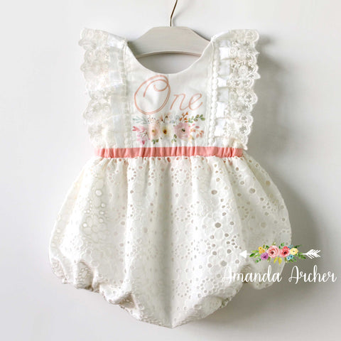 1st Birthday Keepsake Bubble Romper