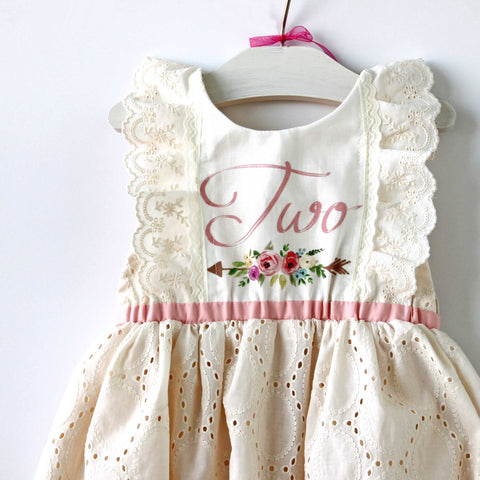 2nd Birthday Keepsake Romper, READY TO SHIP 2T